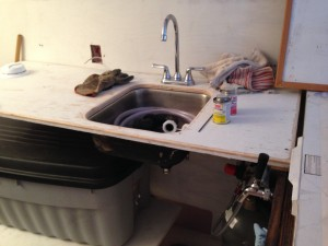 Under-hung sinks are awesome.
